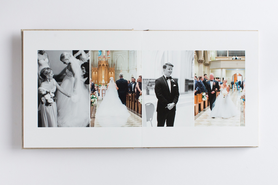 Beautiful Classic Wedding Album Design By Abby Grace Photography