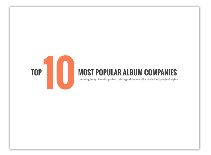 the top 10 best album companies for printing and binding wedding albums