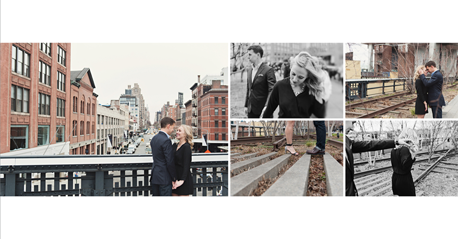New York City Engagement Album Design by Jean Smith Photography