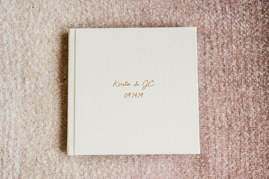 Miller's Lab wedding album designed by Align Album Design